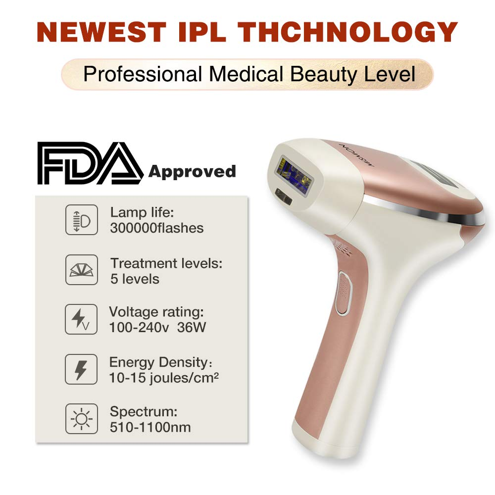 MiSMON IPL hair removal Device for Men and Women