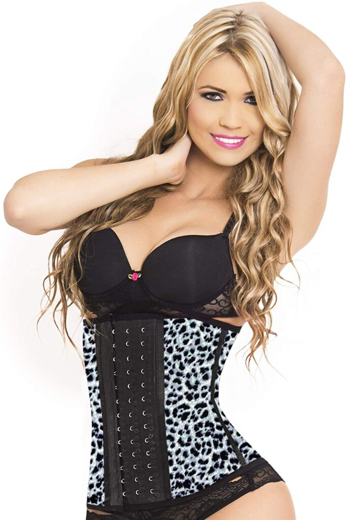 Lady Slim Fajas Colombiana Latex Waist Trainer front view