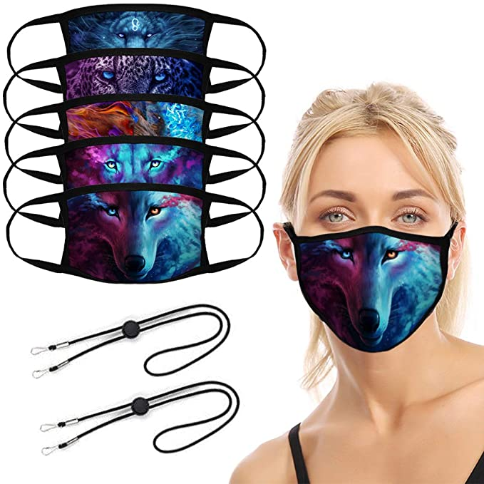 Wolf face mask for Halloween for women