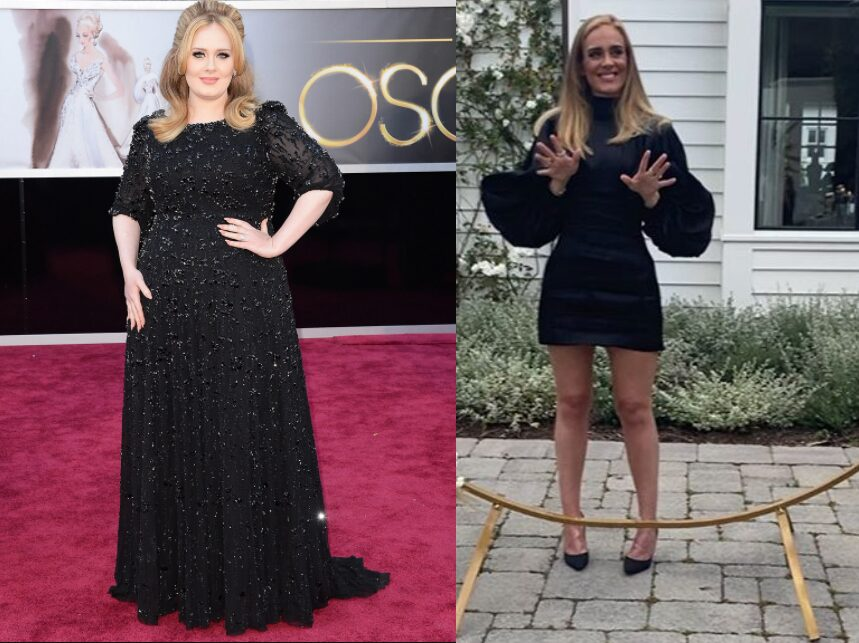 Adele before and after weight loss pics