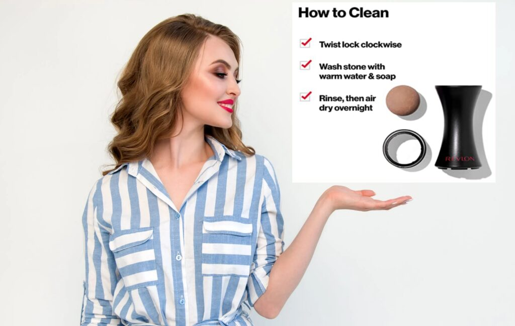 How to clean revlon oil-absorbing roller
