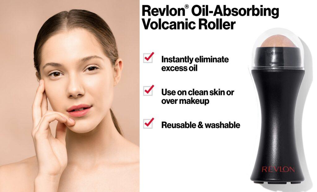 Review of Revlon oil-absorbing volcanic roller