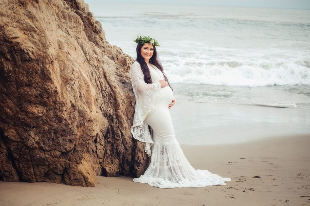 Ivory Lace Maternity Dress